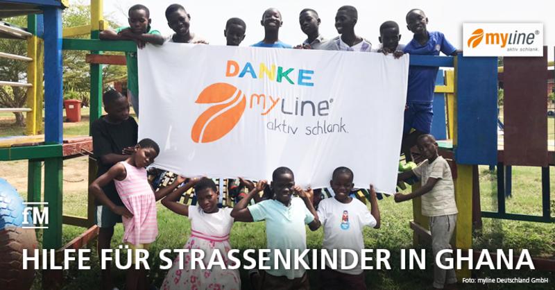 Hilfe für ghanaische Straßenkinder: myline Pfundsengel übergeben Spende
