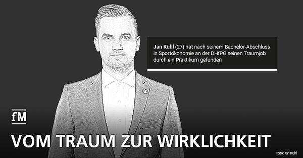 Sportökonom Jan Kühl – So schaffte der ehemalige DHfPG-Student den Sprung in die Sportbranche