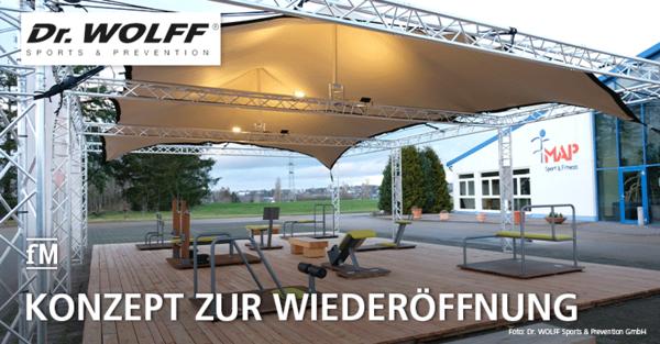 Konzept zur Wiedereröffnung der Fitnessstudios: Dr. Wolff Outdoor Campus für Functional Training und Co.