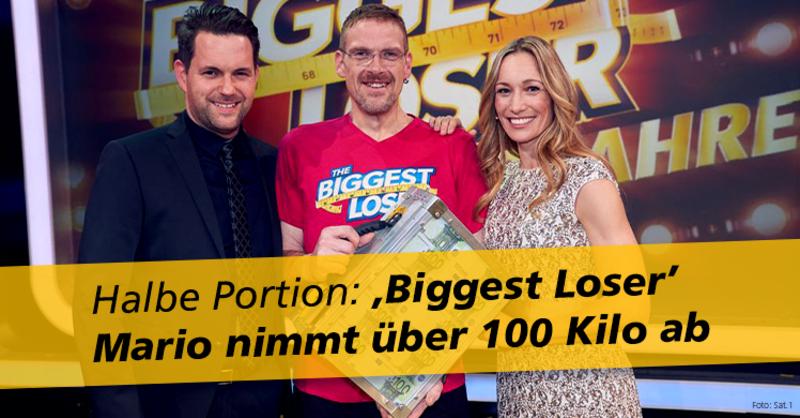 Mario gewinnt die Jubiläums-Staffel der Sat.1 Abspeck-Show 'The Biggest Loser'.