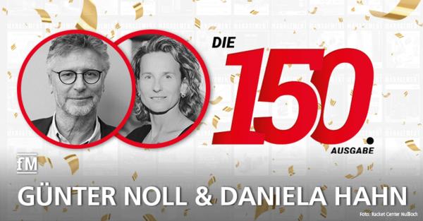 Günter Noll und Daniela Hahn von den Donna's Frauenfitness Clubs gratulieren zur 150. Ausgabe der fitness MANAGEMENT international (fMi)