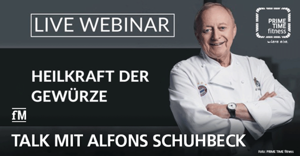 PRIME TIME fitness Talk mit Alfons Schuhbeck