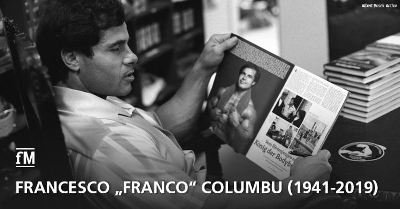 Zum Tod des italienischen Bodybuilders Francesco 'Franco' Columbu.