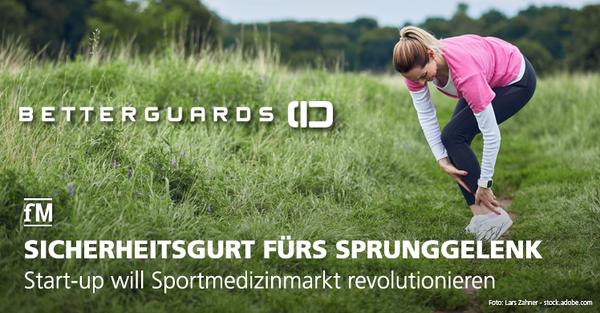 Berliner Start-up will Sportmedizinmarkt mit Erfindung des Betterguards Systems revolutionieren und Sportverletzungen vermeiden.