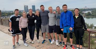 Die glücklichen Teilnehmer des Morning-Workouts beim DSSV-Events 2019 in Belgrad