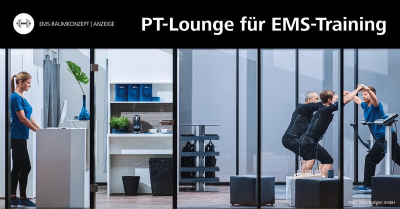Die PT-Lounge im CATO in Wolfenbüttel: Ein EMS-Studio als Shop-in-Shop im Fitnessstudio Cato Wolfenbüttel.
