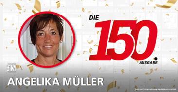 Angelika Müller (INKO Internationale Handelskontor GmbH) gratuliert zur 150. Ausgabe der fitness MANAGEMENT international (fMi)