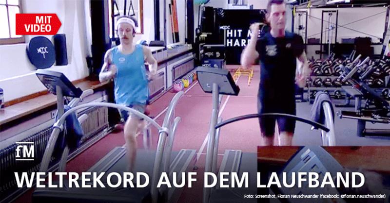 Der Weltrekordlauf im Video: Florian Neuschwander rennt 50 km Weltrekord auf dem Laufband