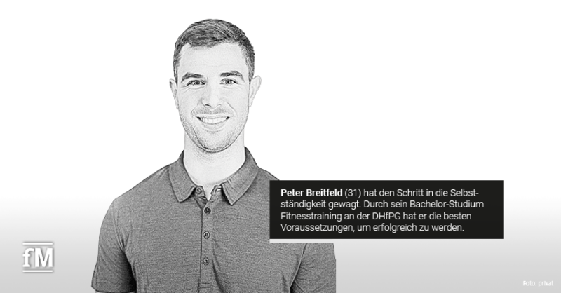 Erfolgsgeschichte des ehemaligen DHfPG-Studenten Peter Breitfeld