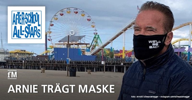 Mit gutem Beispiel voran: Auch Arnold Schwarzenegger trägt in Zeiten von Corona Maske