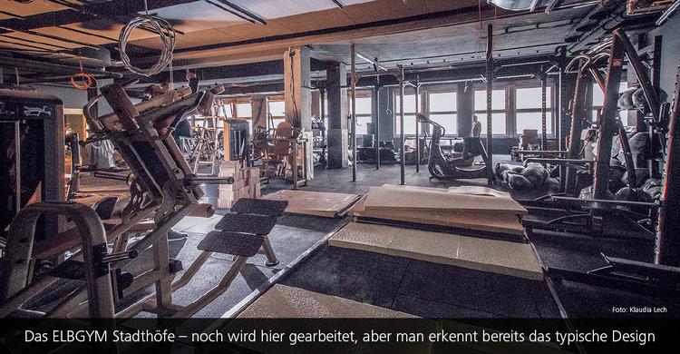 Das ELBGYM Stadthöfe – man erkennt bereits das typische Design der Hamburger Fitnesskette.
