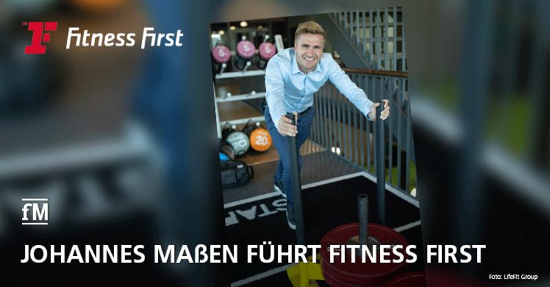 LifeFit Group präsentiert Johannes Maßen als neuen Geschäftsführer der Fitness First Germany GmbH