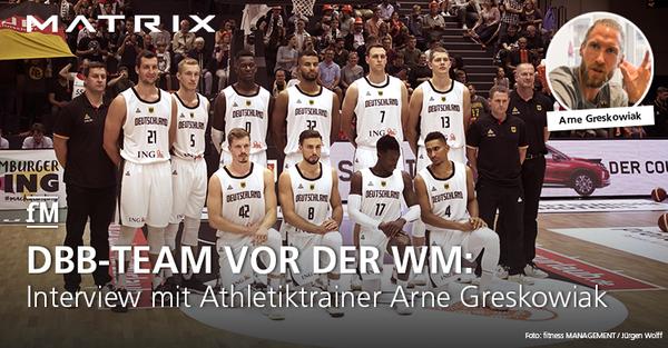 Interview mit dem DBB-Athletiktrainer Arne Greskowiak in Hamburg.