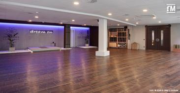 Blick in einen Trainingsraum des neueröffneten Boutique Studios John & Jane's Soulbase in Berlin.