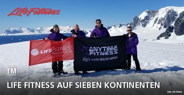 Life Fitness goes Antarktis: Life Fitness als erstes Fitnessunternehmen in Studios auf allen sieben Kontinenten