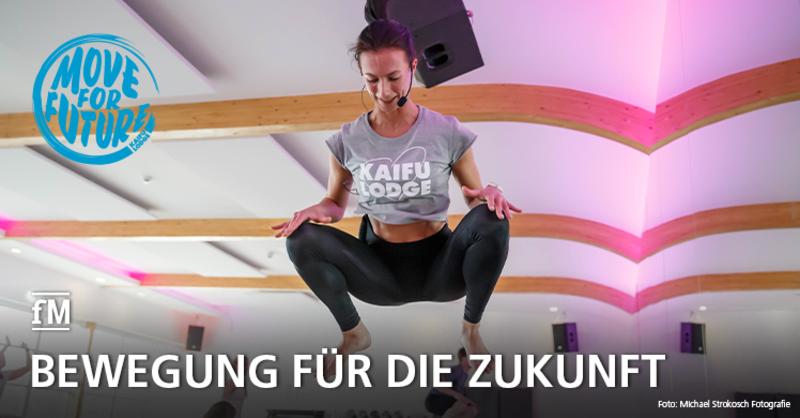 Personal Trainerin und Fitness Coach Anna-Lena Vahle beim MOVE FOR FUTURE DAY in der Hamburger KAIFU-LODGE