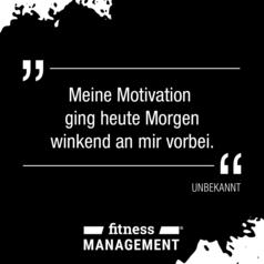 Zitat des Tages: 'Meine Motivation ging heute Morgen winkend an mir vorbei.' – Autor unbekannt