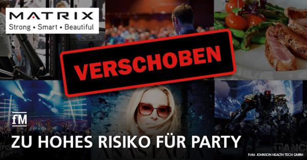 Matrix Party verschoben: Risiko wegen Coronavirus zu hoch
