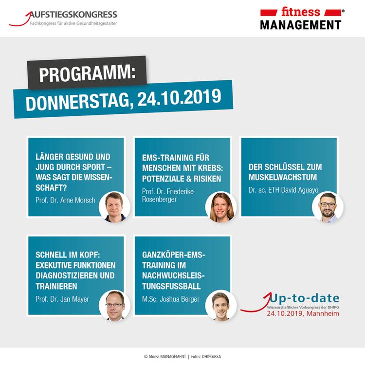 Programm am 24. Oktober 2019 auf dem Wissenschaftlichen Vorkongress der DHfPG in Mannheim.