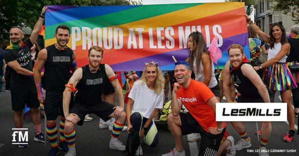Spendenaktion zum Pride Month 2021 des Gruppenfitnessanbieters LES MILLS