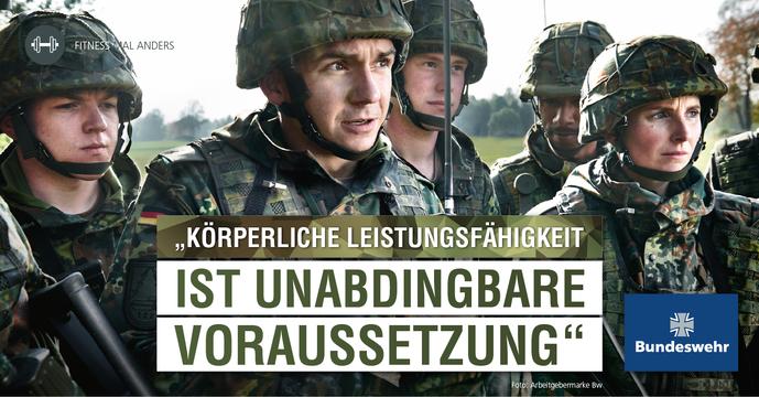 Körperliche Leistungsfähigkeit ist bei der Bundeswehr unabdingbare Voraussetzung.