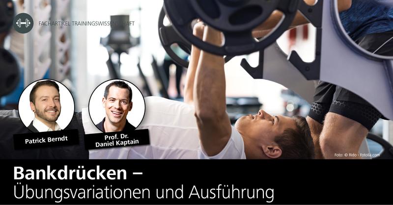 Prof. Dr. Daniel Kaptain und Patrick Berndt von der DHfPG erklären Bankdrücken und was es bei dieser Kraftübung zu beachten gilt.