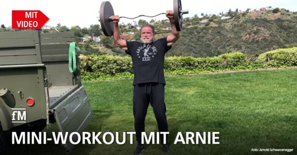 Fitness-Ikone Arnold 'Arnie' Schwarzenegger sendet Grußbotschaft, Mini-Workout und Motivation für die Corona-Krise