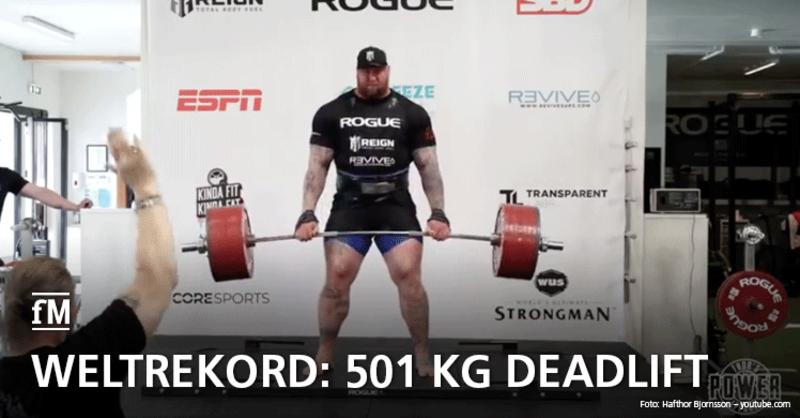 Weltrekord Thor Björnsson 501 Kilogramm Deadlift