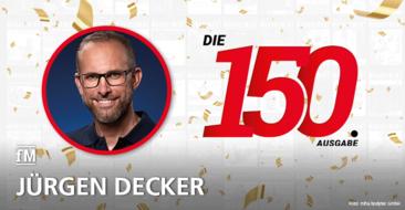 Jürgen Decker (miha bodytec) gratuliert zur 150. Ausgabe der fitness MANAGEMENT international (fMi)