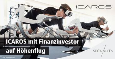 ICAROS auf neuem Höhenflug - finanzstarker Investor mit an Bord