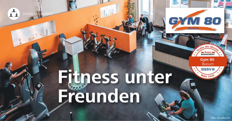 'Studio des Monats März 2020': Das Fitnesscenter Gym 80 Bassum