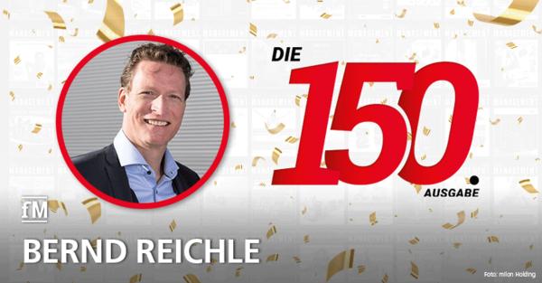 Bernd Reichle von milon Industries gratuliert zur 150. Ausgabe der fitness MANAGEMENT international (fMi)