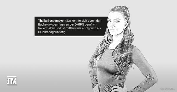 Theorie und Praxis – DHfPG-Absolventin Thalia Bossemeyer ist überzeugt