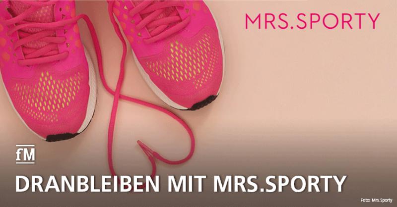 Mrs.Sporty motiviert die Mitglieder in Corona-Zeiten