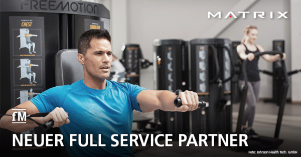 Matrix ist neuer Full Service Partner für FreeMotion Kraft- und Cardiogeräte in Deutschland und Österreich