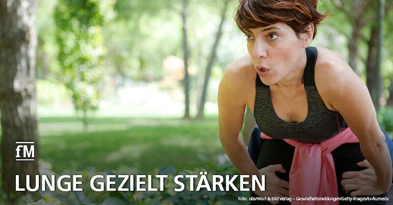 Lunge gezielt stärken: Dazu raten Experten im Gesundheitsmagazin 'Apotheken Umschau'.