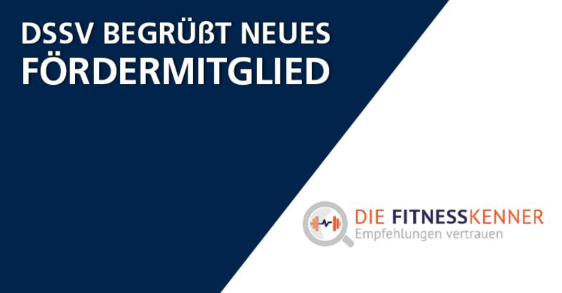 Fitness-Empfehlungsportal 'Die Fitnesskenner' ist DSSV-Fördermitglied