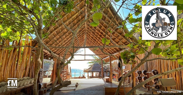 Das Tulum JUngle Gym bietet Sonne, Strand und Meer und jede Menge Fitness-Kult