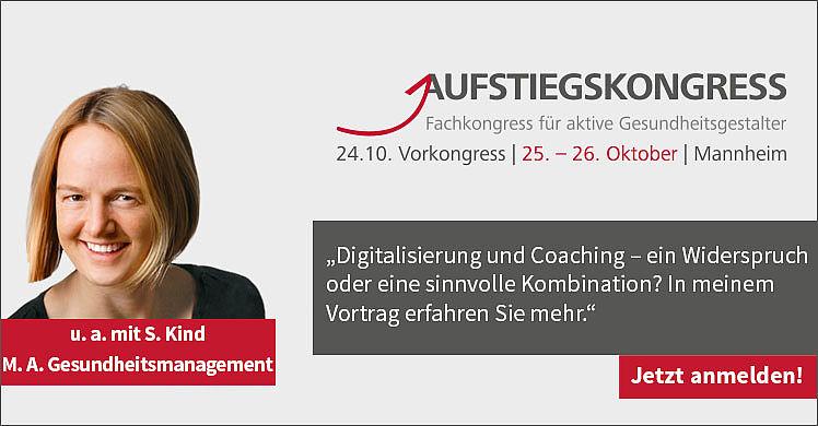 Sabine Kind absolvierte den Master of Arts Gesundheitsmanagement an der DHfPG und referiert im Rahmen des Fach-Forums Coaching beim Aufstiegskongress 2019.