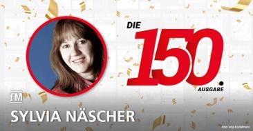 Sylvia Näscher von Feminin Aktiv gratuliert: 'Alles Gute für die nächsten 150 fMi-Ausgaben!'
