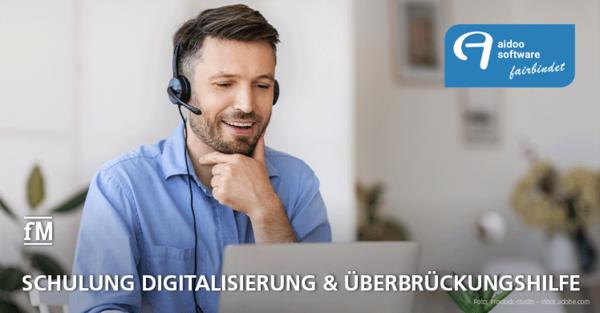 Online-Schulung Digitalisierung und Überbrückungshilfe mit Steuerberater und Software-Experte von Aidoo