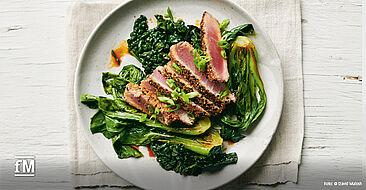 Goodful - Das Kochbuch: Thunfisch mit Körnerkruste
