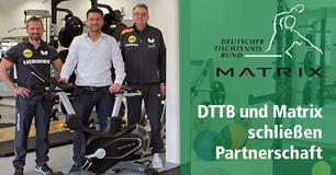 Deutscher Tischtennis-Bund (DTTB) schließt Kooperation mit dem Fitnessgeräte-Hersteller Johnson Health Tech. Deutsches Tischtennis-Zentrum mit MATRIX-Geräten ausgestattet.