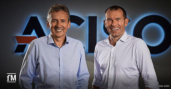 Staffelübergabe: Oliver Sekula (rechts) zieht sich aus ACISO Geschäftsführung zurück, Thomas Nemmaier wird neuer CEO.