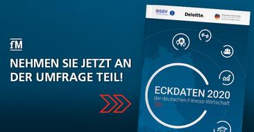 Jetzt mitmachen! Befragung zur Studie Eckdaten der deutschen Fitness Wirtschaft 2020 ist gestartet.