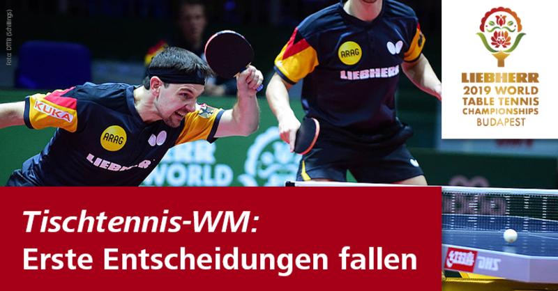 DTTB-Asse müssen in Budapest in Runde 1 an die Platte bei den Tischtennis Weltmeisterschaften.