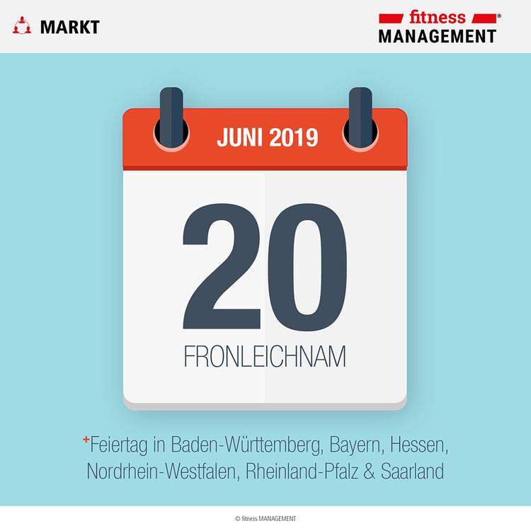 Fronleichnam ist gesetzlicher Feiertag in Baden-Württemberg, Bayern, Hessen, Nordrhein-Westfalen, Rheinland-Pfalz und dem Saarland.