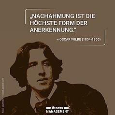 Zitat des Tages: 'Nachahmung ist die höchste Form der Anerkennung.' – Oscar Wilde