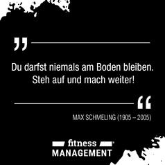 Zitat des Tages: 'Du darfst niemals am Boden bleiben. Steh auf und mach weiter!' – Max Schmeling (1905-2005)
