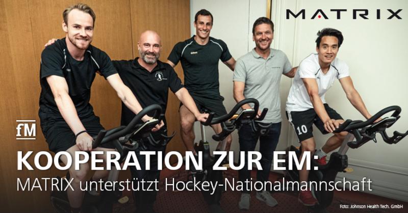 Matrix offizieller Fitnessgeräte-Partner des DHB zu EM